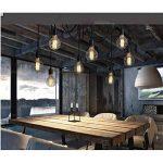 Douille Rétro abat-jour Suspensions Vintage ajustable Rétro Lustre plafond Lampe(E27) Dining Hall Chambre Hôtel 5 Bras (Ampoule NON INCLUS) de la marque ChicDécoré image 2 produit