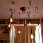 Douille Rétro abat-jour Suspensions Vintage ajustable Rétro Lustre plafond Lampe(E27) Dining Hall Chambre Hôtel 6 Bras (Ampoule NON INCLUS) de la marque ChicDécoré image 2 produit