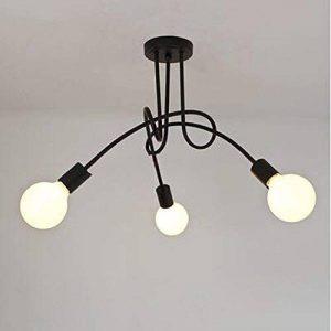 DPG Éclairage Vintage Plafonniers Plafond Éclairage Noir Creative Personnalité Plafond Lampes Luminaires Salon Luminaria Lustre de la marque DPG Lighting image 0 produit