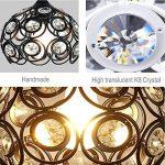 DPG Lighting Led Cristal Cristal Chandelier Plafond Pendules Montage E27 220v 110v pour salon, chambre (ampoule non incluse) de la marque DPG Lighting image 4 produit
