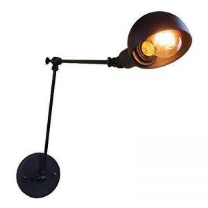 DPG Lighting Vintage Industrial Long Swing Arm Mur Edison Light Poignée réglable Rustic Loft Lighting Applique Applique Applique E27 Metal de la marque DPG Lighting image 0 produit