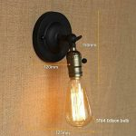 DPG Lighting Vintage Loft Antique LED Wall Lampes Lampes avec interrupteur pour intérieur Home Chambres à coucher Salon Chambre à coucher de la marque DPG Lighting image 4 produit