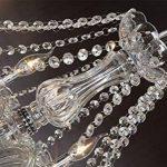 Dst Marie Therese 10-bras en verre transparent cristal Droplets Pendant Lamp Light Chandelier Diam¨¨tre 80cm cha?ne Hauteur 60cm 60cm de la marque Dst image 2 produit