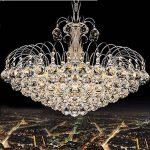 Dst Moderne Luxe Lluie Goutte Claire K9 Lustre en Cristal, Plafond s'allume Avec 6 Douilles Sour Salon Chambre ou étude Chambre, Diamètre 45 cm Hauteur 42cm de la marque Dst image 3 produit