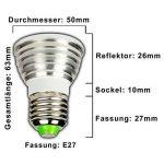 E27 4 w à lED rVB à changement de couleur avec télécommande - 4 w farblicht spot ampoule lampe à incandescence ampoule-spot de la marque PB-Versand image 1 produit