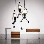 E27 Lampe Suspension - Humanoïde Lampes de Plafond - Hauteur réglable - Luminaire suspendu vintage Pour le salon salle à manger bar cafétéria (1 Tête) de la marque TANG SHI image 4 produit