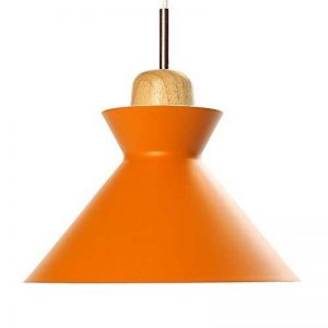 E27 Moderne Suspensions Luminaire Plafonnier Luminaire Lumiere Aluminium et Bois Suspensions Lampe Plafonnier Lumiere Créatif Moderne Plafonnier Lustre Plafond Lustre Contemporain Suspensions Lampe(Orange) de la marque Chrasy image 0 produit