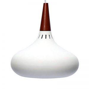 E27 Métal Moderne Suspensions Luminaires Aluminium et Bois Suspensions Luminaire Plafonnier Luminarie Blanc Vernis Plafond Lustre Suspensions Luminaire Contemporain Suspensions Lampe(Blanc) de la marque Chrasy image 0 produit