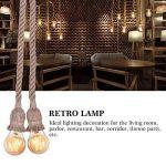 E27 Pied de Lampe Vintage avec Corde Suspendu Luminaire Plafonnier Lampe Rétro Style DIY Décoration Restaurant Café Bar ( Taille : Double Head ) de la marque Yosoo image 3 produit