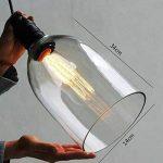 E27 Rétro Industriel Transparent de Verre Applique de Lustre Plafonnier Lampe Vintage Retro Light Shade de la marque ruist-eu image 3 produit