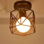 E27 Screw-on 40W Industrial DIY Metal Ceiling Lamp Suspensions Plafonnier Abat-jour Lustre avec Douille Applique d'Eclairage Murale Retro Industriel Lustre fer forge Suspension industrielle Cage Plafonnier Lustre Lampe de plafond métallique simple en fer image 2 produit