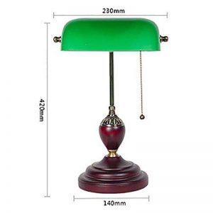Eeayyygch Lampe de Table Couverture Verte Lampe de Table bancaire Lampe de Table rétro Dormitory Reading Study Lamp (coloré : -, Taille : -) de la marque Eeayyygch image 0 produit