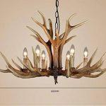 EFFORTINC Antlers vintage resin 6 light chandeliers, American rural countryside antler chandeliers,Living room,Bar,Cafe, Dining room deer horn chandeliers de la marque EFFORTINC image 1 produit