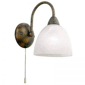 Eglo 89898Applique murale DIONIS en acier avec interrupteur à tirette, rouille de la marque EGLO; my light; my style image 0 produit