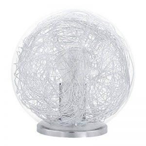 Eglo 93075Table Lampe boule, aluminium, E27, transparent de la marque EGLO; my light; my style image 0 produit