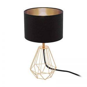 Eglo 95787 Lampe de Table, Acier, E14, Noir, 16.5 x 16.5 x 30.5 cm de la marque EGLO; my light; my style image 0 produit
