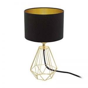 Eglo 95788 Lampe de Table, Acier, E14, Messing, Schwarz, 16.5 x 16.5 x 30.5 cm de la marque EGLO; my light; my style image 0 produit
