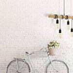 Eglo–Lampe de suspension E27Noir de chêne 'Townshend' de la marque EGLO-my-light-my-style image 3 produit