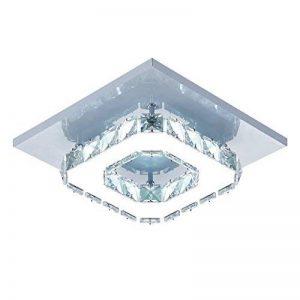 Egomall Plafonnier en cristal, Lampe de plafond en Acier inoxydable, Plafonnier LED 12W pour salon, chambre à coucher, couloir de la marque egomall image 0 produit