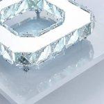 Egomall Plafonnier en cristal, Lampe de plafond en Acier inoxydable, Plafonnier LED 12W pour salon, chambre à coucher, couloir de la marque egomall image 2 produit