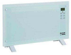 Einhell GCH 2000 Radiateur convecteur en verre (2000W, 2 niveaux de chaleur, écran LCD tactile, minuterie, télécommande, design moderne, installation au mur ou sur pied), GCH 2000 W de la marque Einhell image 0 produit