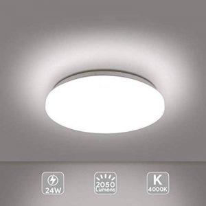 EISFEU 24W Plafonnier LED Lampe de plafond 12-Inch 2050 Lumens 4000K Warm White la lampe de bâti affleurante pour la salle de bains, cuisine, salon de la marque EISFEU image 0 produit