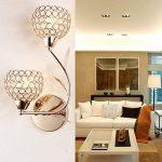 ELINKUME Applique Murale Design Double Aphyse Pour Chambre/Escalier/Sallon/Bureau (Doré) de la marque ELINKUME image 2 produit
