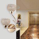 ELINKUME Applique Murale Design Double Aphyse Pour Chambre/Escalier/Sallon/Bureau (Doré) de la marque ELINKUME image 4 produit