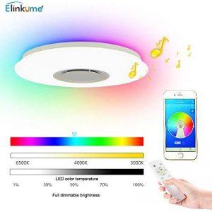 ELINKUME Plafonnier LED avec Haut-parleur Bluetooth pour Musique 36W Téléphone APP Télécommande Dimming 3000 Lumens Lumière des étoiles de la marque ELINKUME image 0 produit