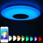 ELINKUME Plafonnier LED avec Haut-parleur Bluetooth pour Musique 36W Téléphone APP Télécommande Dimming 3000 Lumens Lumière des étoiles de la marque ELINKUME image 1 produit