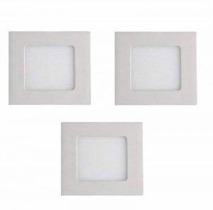 Els Banys 08375301Kit de 3spots LED encastrables extra-plats en aluminium Blanc 3W 8,5x 8,5cm de la marque ELS BANYS image 0 produit