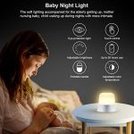 ELZO LED Capteur tactile lumière de nuit pour les enfants, rechargeable Eye Care Nursery lampe de chevet pour l'allaitement, Safe ABS + PC + Silicone, luminosité réglable et blanc chaud / blanc froid, 80 heures de fonctionnement, Touch Control, SOS Mode d image 3 produit