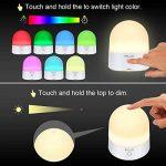 ELZO LED Lampe de chevet Touch Sensor, veilleuse sans fil décorative rechargeable portative avec 7 couleurs RGB et lumière blanche chaude à intensité réglable, 80 heures de fonctionnement, Touch Control de la marque ELZO image 2 produit