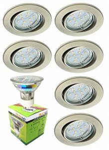 ensemble 6 spots led encastrables blanc TOP 0 image 0 produit