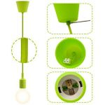 ENUOTEK Lampe Suspension Luminaire Suspendu Vert avec Douille E27 pour Cuisine Salon Salle à Manger Longueur Reglable Longueur Maximale 155CM de la marque ENUOTEK image 3 produit