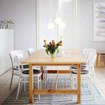 ENUOTEK Lampe Suspension Silicone Blanc Couleur avec Douille E27 Luminaire Suspendu Moderne pour Restaurant Cuisine Salle a Manger Salon de la marque ENUOTEK image 4 produit