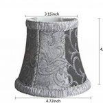 ePack Style européen Abat-jour lampe murale, 2pcs Tissus fabriqués à clipser Abat-jour pour applique murale lampe, Lustre, lampe Bougie, lampe en cristal, Tissu, gris, 3.35Top*4.72Bottom*4.33Height(inch), E12 de la marque Epack image 1 produit