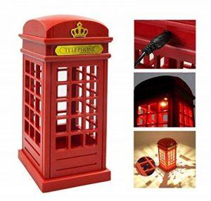 Eplze Veilleuse LED Cru Londres Cabine téléphonique capteur tactile Dimmable Lampe de table pour Accueil Bureau Restaurant Bar de la marque Eplze image 0 produit