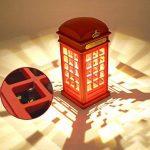 Eplze Veilleuse LED Cru Londres Cabine téléphonique capteur tactile Dimmable Lampe de table pour Accueil Bureau Restaurant Bar de la marque Eplze image 1 produit