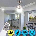 etc-shop 14 Watt LED Design Plafond Ventilateur Lampe 3 Niveaux Cool Chaud télécommande de la marque etc-shop image 1 produit