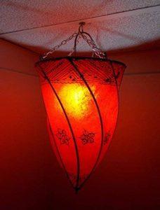Etnico Arredo Ethnique ameublement Lustre Ethnique marocain Plafonnier Lampe Lanterne Cuir Fer Henne 018181027S3 de la marque Etnico Arredo image 0 produit