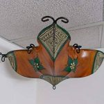 Etnico Arredo Ethnique ameublement Lustre Ethnique marocain Plafonnier Lampe Lanterne Cuir Fer Henne 257181005S3 de la marque Etnico Arredo image 1 produit