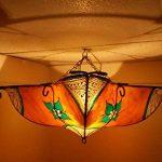 Etnico Arredo Ethnique ameublement Lustre Ethnique marocain Plafonnier Lampe Lanterne Cuir Fer Henne 257181005S3 de la marque Etnico Arredo image 2 produit