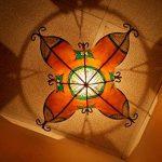 Etnico Arredo Ethnique ameublement Lustre Ethnique marocain Plafonnier Lampe Lanterne Cuir Fer Henne 257181005S3 de la marque Etnico Arredo image 3 produit