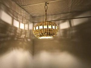 Etnico Arredo Lustre marocain lampe applique lanterne en rotin osier ethnique Maroc fait à la main handmade de la marque Etnico Arredo image 0 produit