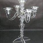 européen en acrylique Transparent pour bougie, Plexiglasstea lumière Chandelier Lustre avec 5tasses pour mariage, fête, festival, Noël, décoration de Noël de la marque MEYA image 2 produit