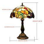 EuSolis 12 pouces vitrail raisins Tiffany lampe de chevet E27 pour chambre salon rétro Vintage Art Deco Designer lampe de la marque EuSolis image 1 produit