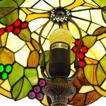 EuSolis 12 pouces vitrail raisins Tiffany lampe de chevet E27 pour chambre salon rétro Vintage Art Deco Designer lampe de la marque EuSolis image 3 produit