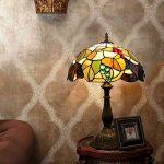 EuSolis 12 pouces vitrail raisins Tiffany lampe de chevet E27 pour chambre salon rétro Vintage Art Deco Designer lampe de la marque EuSolis image 4 produit