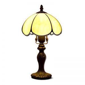 EuSolis 8 Pouces en Verre ambré Tiffany Vintage Gold Lampe de Table Classic Designer Abat-Jour Lampe de Chevet E27 Home Deco pour Salon de la marque EuSolis image 0 produit